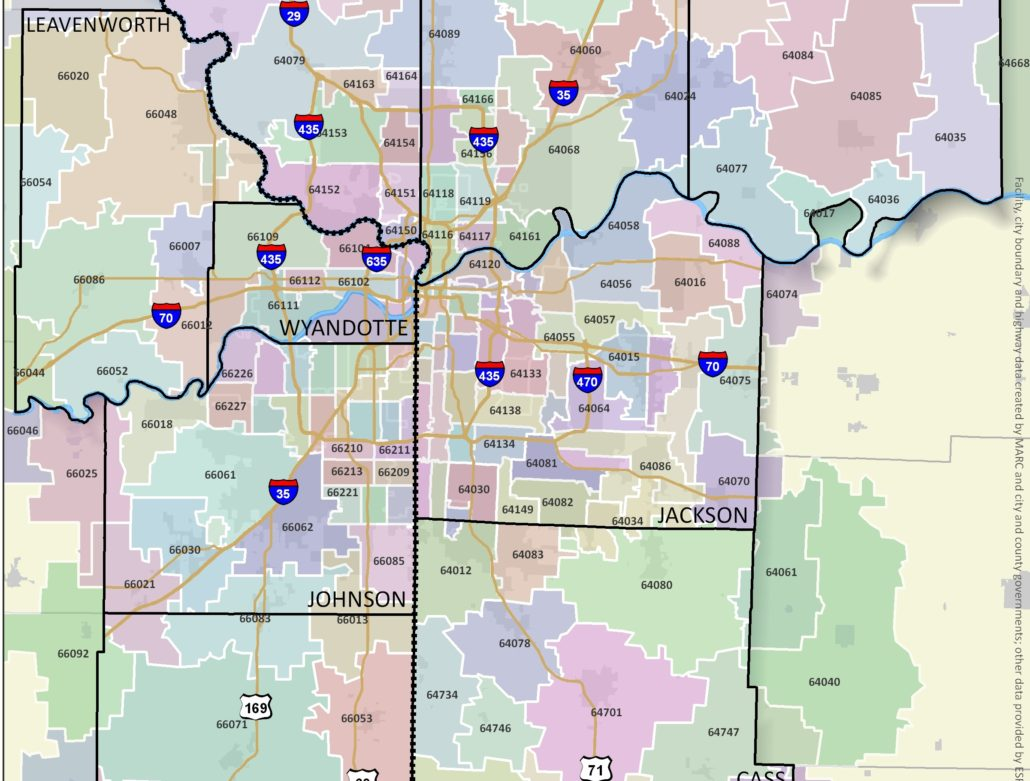 Kansas City Zip Code Map